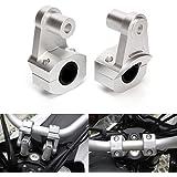 Triclicks 2X Abrazadera Universal 22/28 mm del Manillar de la Motocicleta, Aluminio,Soporte Elevador para Manillar, Eelevación del Manillar, Adaptador de Instalación