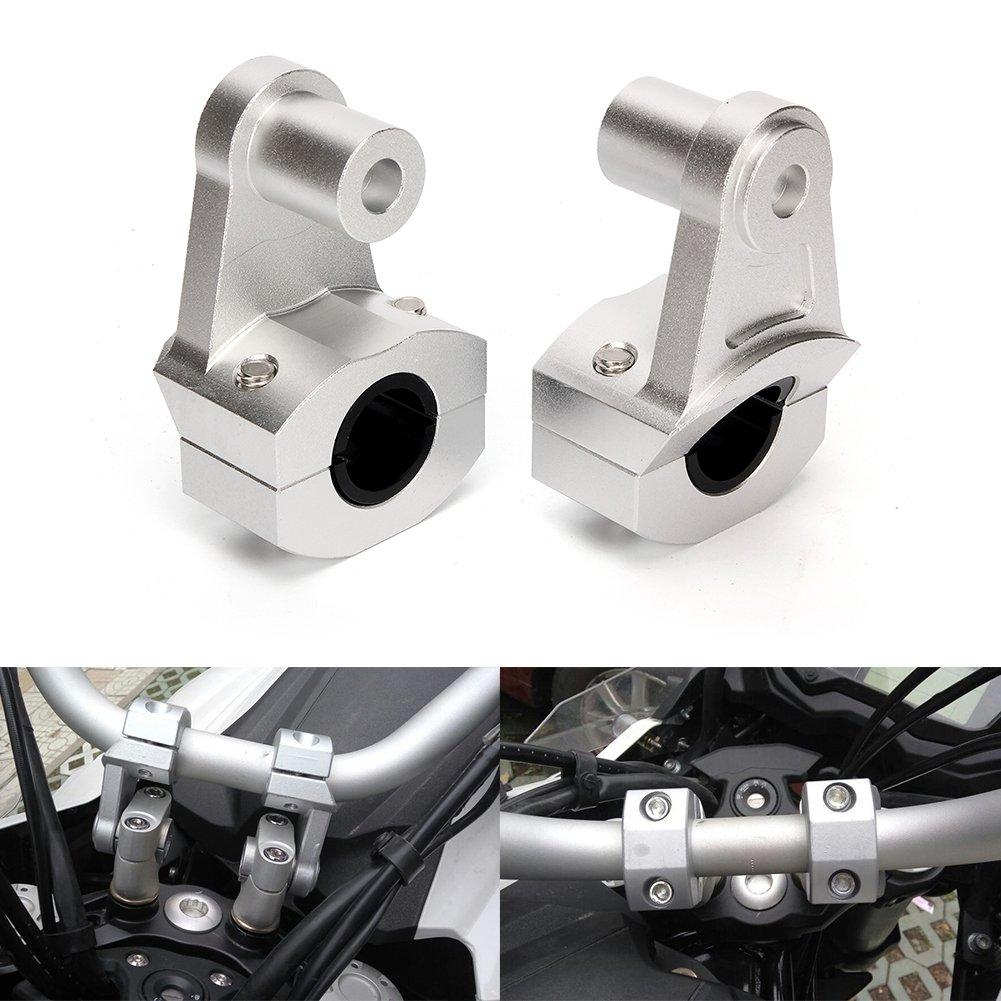 adattatore di montaggio morsetti per alzare il manubrio della moto compatibilit/à universale Triclicks 2/riser in alluminio da 22/mm
