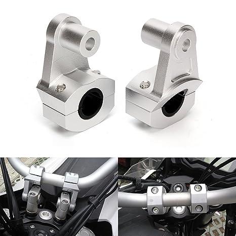 Triclicks 2X Abrazadera Universal 22/28 mm del Manillar de la Motocicleta, Aluminio,