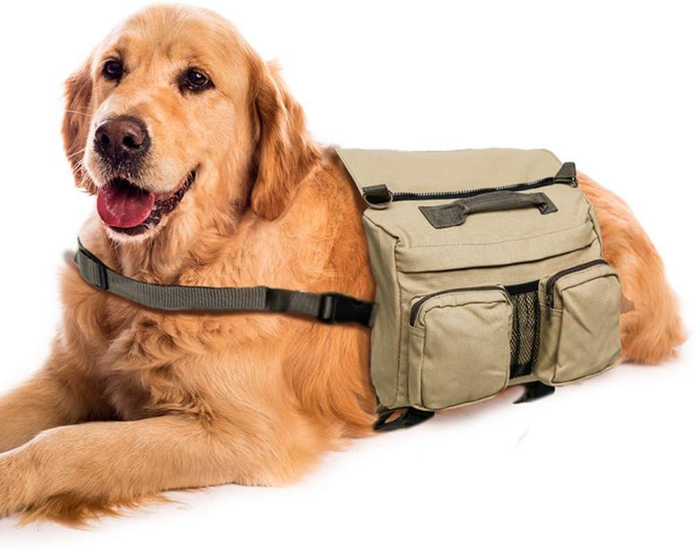 Iswell Mochila de algodón ultraligero Mochila de viaje para mascotas Mochila de senderismo Mochila de silla de montar Mochila para portador de perro mediano grande Paquetes de chaleco de patrulla