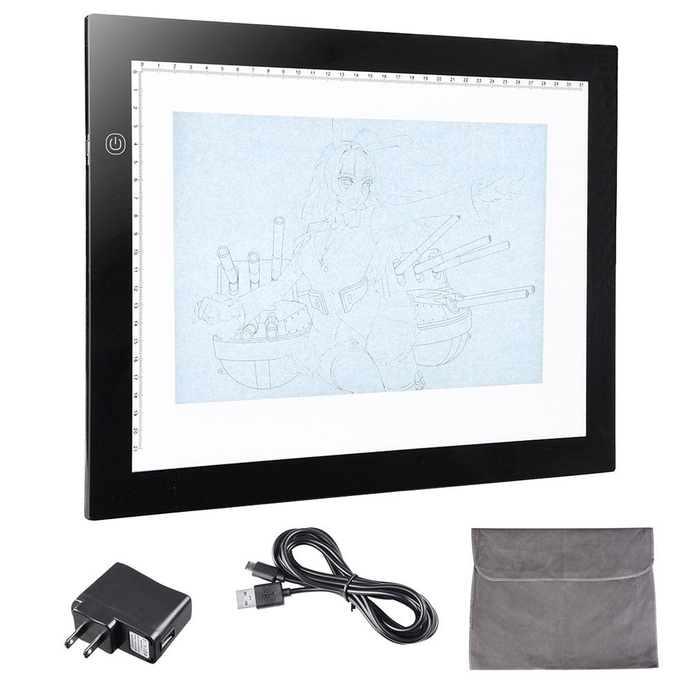 Yescom 14' A4 Ultra Thin LED Drawing Board Light Box Stencil Tattoo Tracing Table Pad Artist Sketching Animation