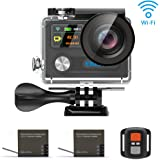 EKEN H8R Wifi 4k Action Camera Sport Impermeabile con 2 batterie Sony Sensor + 2.4G Remote + Charging dock + bastone selfie (Black)