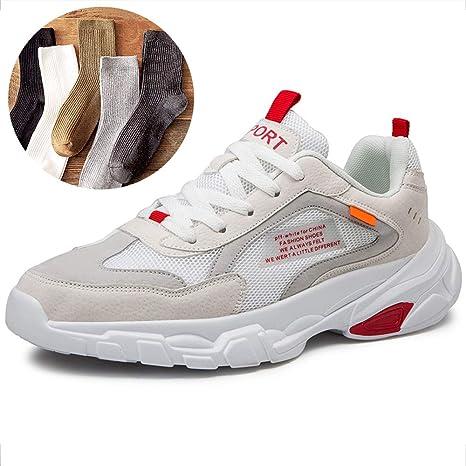 LZLHYH Zapatillas De Deporte De Malla Casual para Hombres Zapatillas De Deporte Transpirables A Prueba De Golpes para Aumentar La Altura Caminar Zapatillas De Gimnasia: Amazon.es: Deportes y aire libre