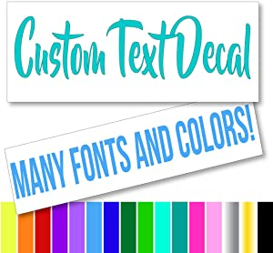 Eggleston Design Co Custom Text Font Name Decal Sticker Compatible with Yeti Tumbler Cup, Laptop, Phones, Boats, and Vehicles (Glitter Colors Available)