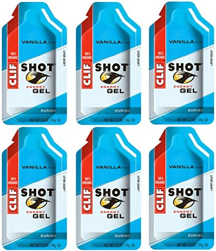 Clif Shot Gel – Vanilla – 6 Pack 6 x 1.2oz Packs