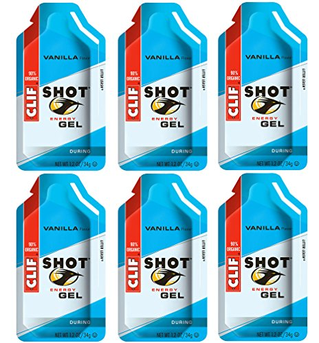 Clif Shot Gel - Vanilla - 6 Pack (6 x 1.2oz Packs)