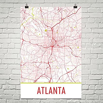 Amazon.com: Atlanta Poster, Atlanta Art Print, Atlanta Wall Art ...