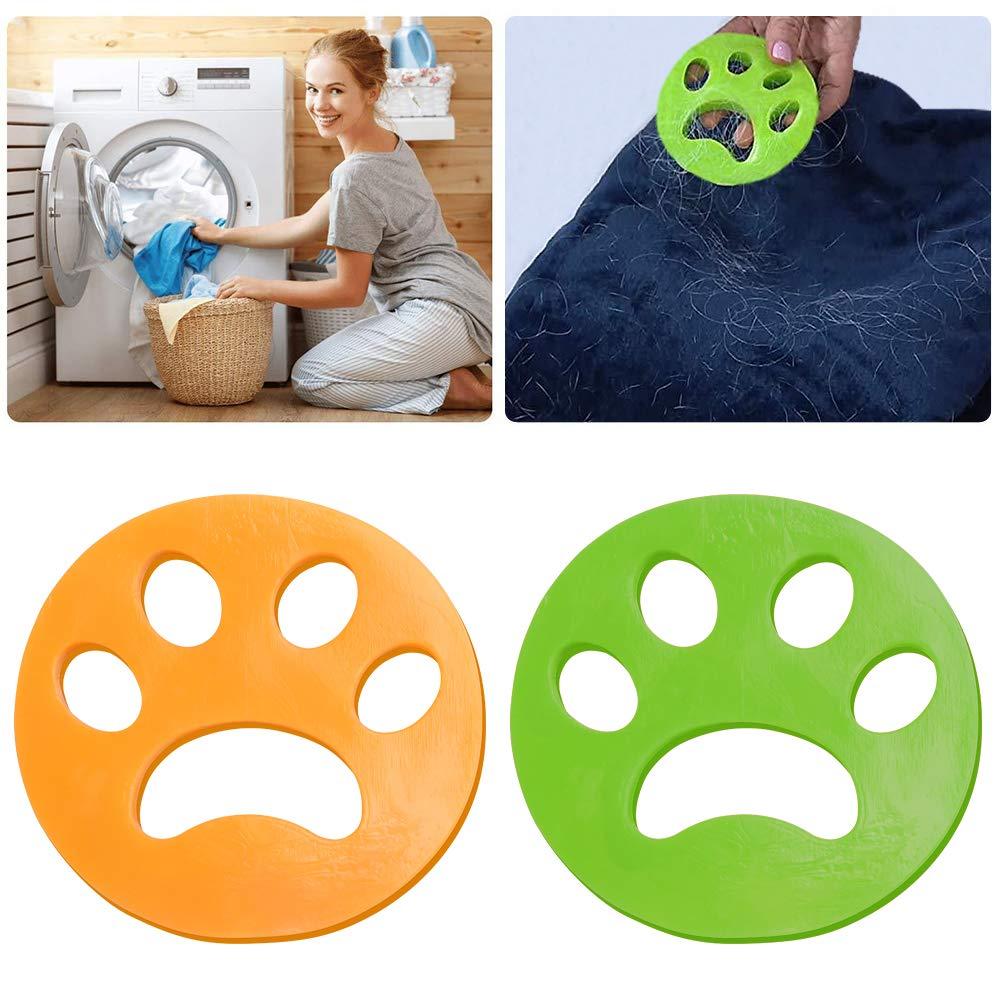2PCS Colector de Cabello para Mascotas Colector de Cabello Lavadora Limpieza de Cabello Bola a Pelo Visor de Mascotas para Limpieza de Ropa