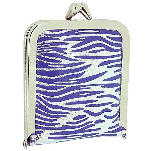 TOC Ladies - Girls Funky Purple & Silver Zebra Print Case Emergency Sewing Kit Set - Zebra Funky Purple