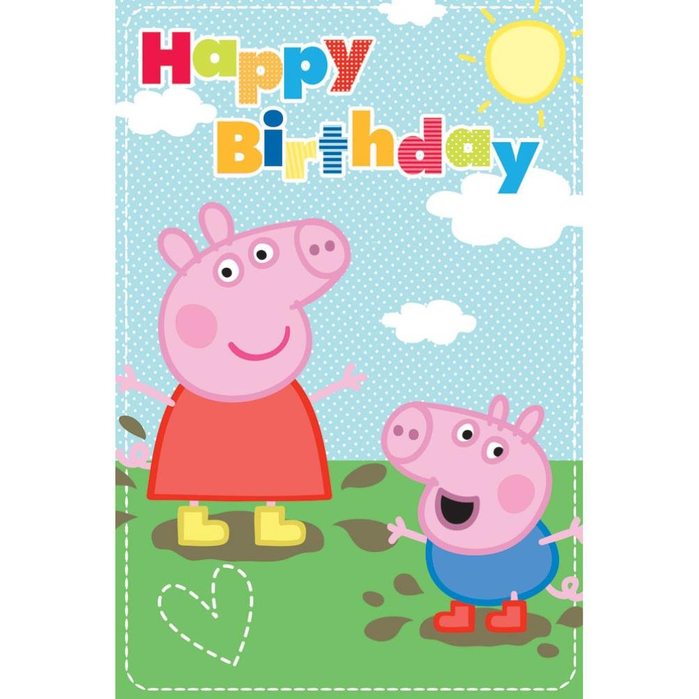 Peppa Pig George Biglietto Happy Birthday Ebay