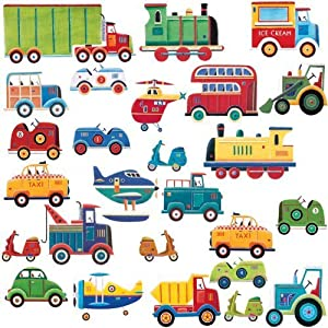 RoomMates Repositionable Childrens Wall Stickers Transport Part 27