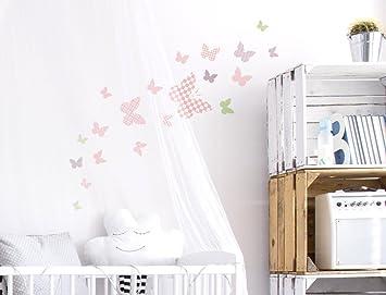 Wandtattoo Kinderzimmer Wandsticker Set A Schmetterlinge mit Muster ...