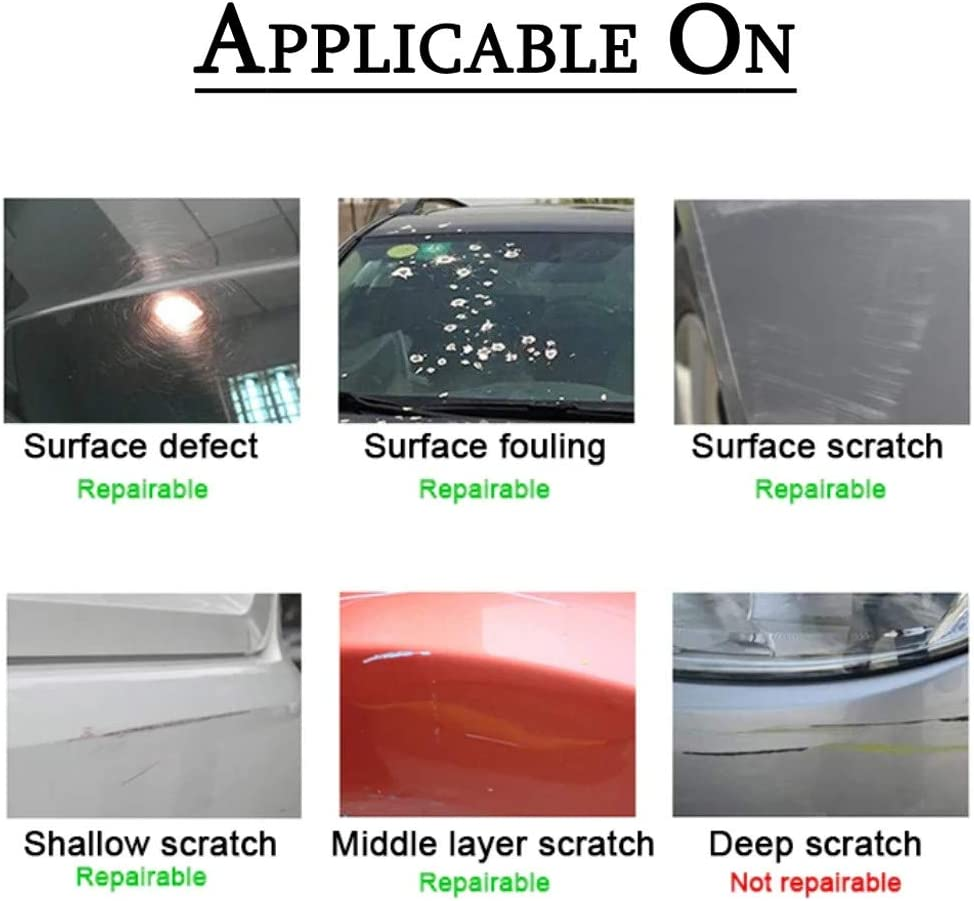 5PACK Multipurpose Car Scratch Repair Nano Remover Cloth Magic Paint Scratch Removal Car Scratch Repair Kit for Repairing Car Scratches and Light Paint Scratches Remover Scuffs on Surface
