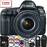 Canon EOS 5D Mark IV DSLR Camera with EF 24-105mm f/4L IS II USM Lens - 9PC Accessory Bundle Includes – Professional Sling Backpack + 64GB SD Memory Card + HDMI Cable + MORE