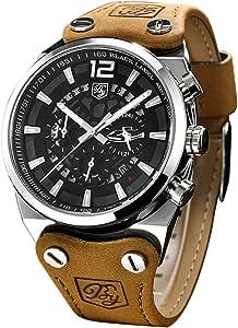 Benyar - Reloj de Pulsera para Hombre, con cronógrafo Militar y ...