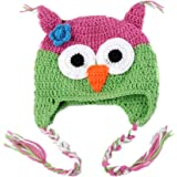 Owl Beanie Knitted Hat - For Baby & Toddler - Lovely and Cute - Multiple Colors (4#)