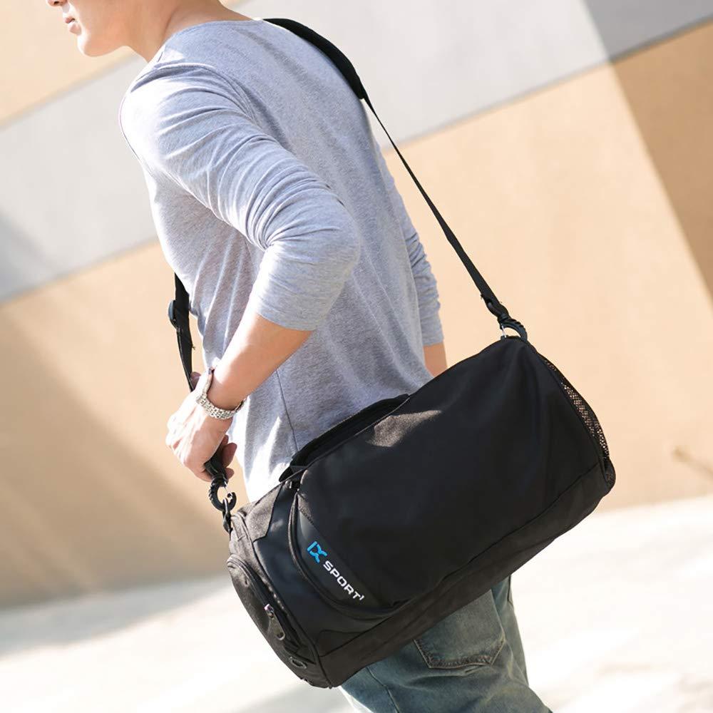 SKYSPER Sporttaschen Reisetasche Trainingstasche Schultertaschen wasserdicht 39 * 22 * 22CM Schwarz