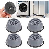 4 almohadillas antivibratorias con cancelación de ruido de choque, almohadillas antivibratorias para lavadora y secadora…