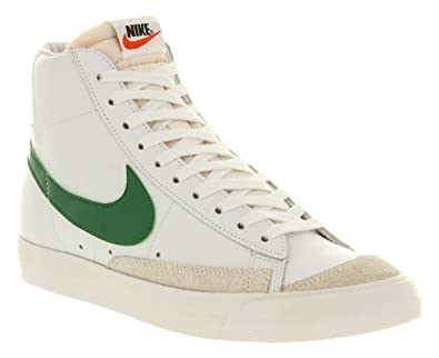 62045fdd1d8 NIKE Blazer Vintage Mid 77 White Green Premium Leather New Mens Trainers  Boots-10.5