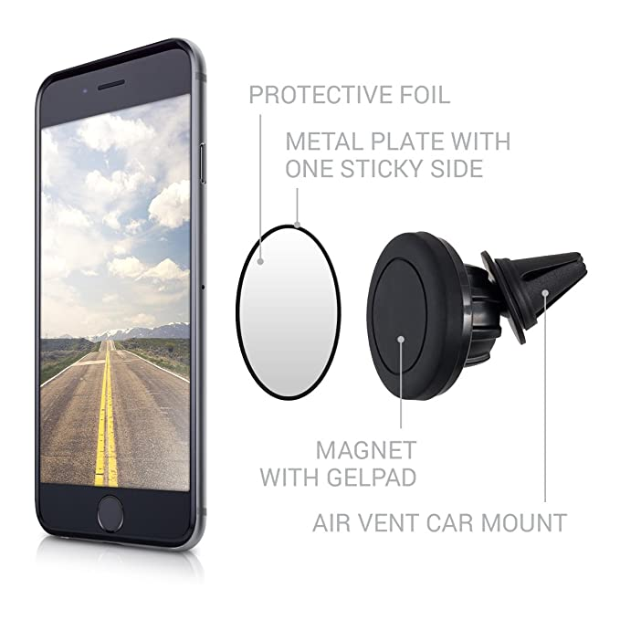 Amazon.com: kwmobile Soporte magnético para ventilación de ...