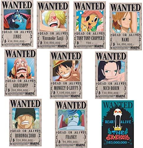 Amazon Com One Piece Poster Wanted Order Luffy 1 5 Billion Reward Order Sticker Wall Sticker Wallpaper Anime Periphery 10 Large 42x28 5cm Posters Prints