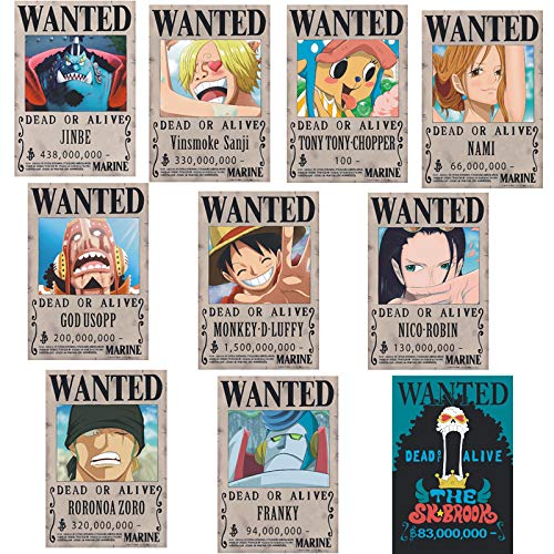 None One Piece Poster King Wanted Luffy Buy Online In Isle Of Man At Desertcart