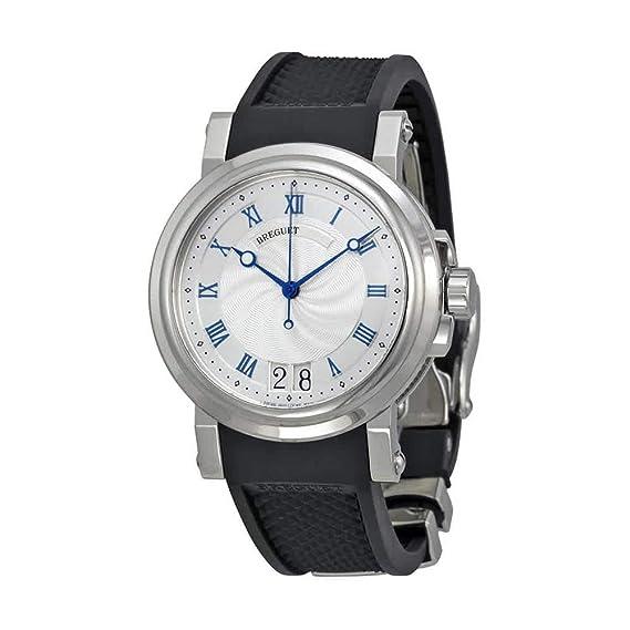 Breguet Marine Automático grande fecha Mens Reloj 5817st125 V8