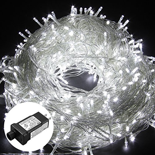 excelvan safe low voltage 8 modes 500 leds 100m328ft dimmable fairy string lights with transparent string for bedroom patio garden gate yard party wedding - Low Voltage Christmas Lights