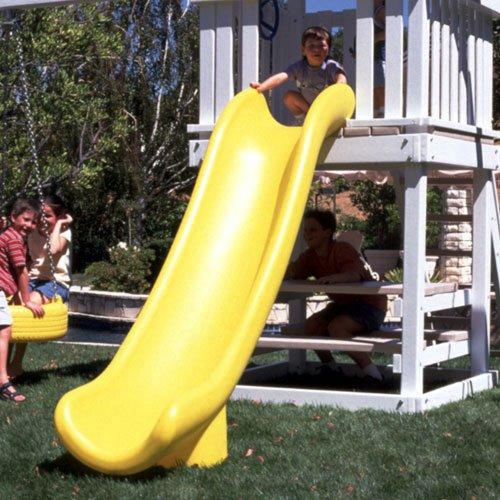 Scoop Slide 7 Foot High Deck - Yellow