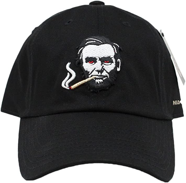 399616655c2 FIELD GRADE Smokin Abe Dad Hat (Black) at Amazon Men s Clothing store