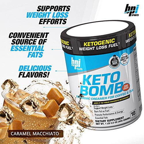 BPI Sports -Keto Bomb, Caramel Macchiato, 0.5 Ounce, 18 ...