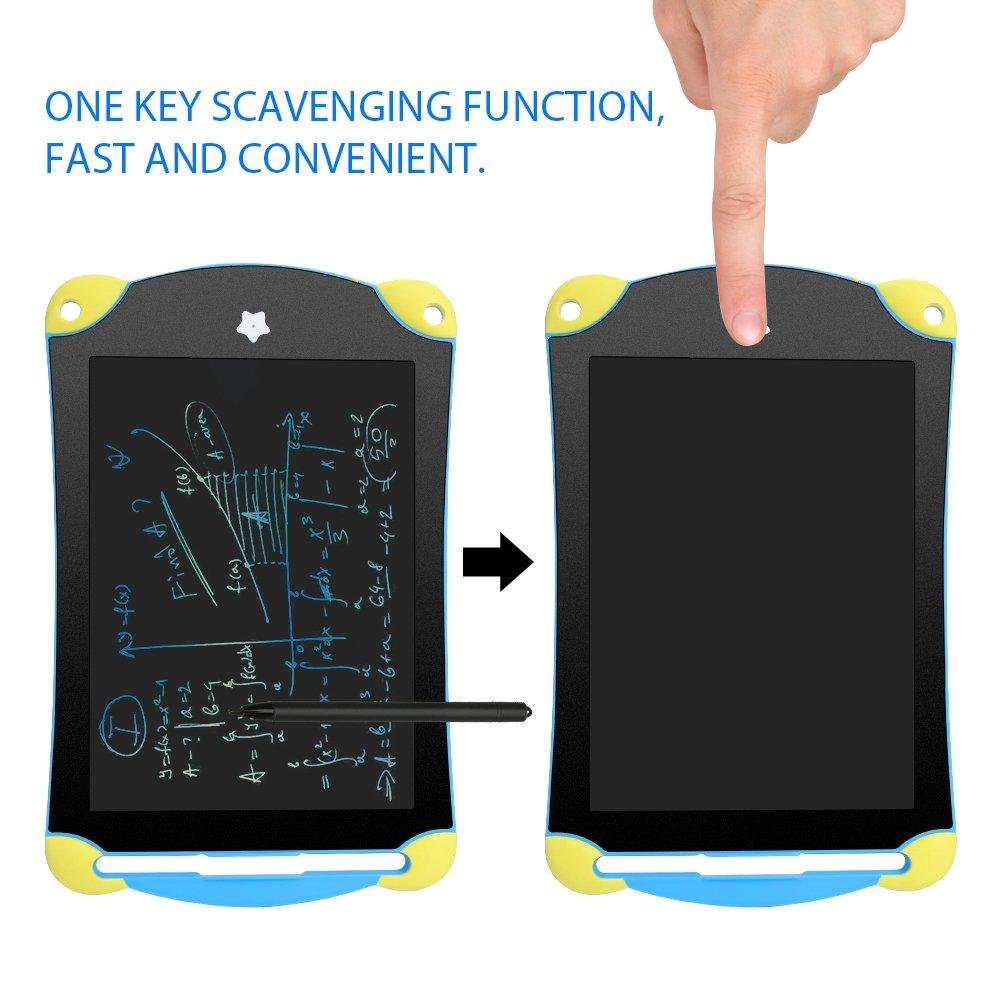 Tableta de Escritura Colorido LCD 8.5 Inch, Memo Pad Electrónico,Dibujo Digital de Cristal Líquido LCD con Lápiz Táctil y Botón de Eliminar & Bloqueo ...
