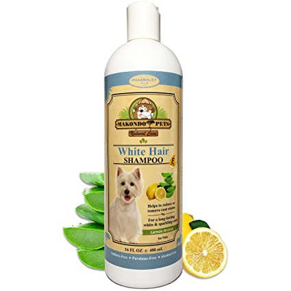 Dog Whitening Shampoo– for Dogs with White/Light Colored  Hair/Coat/Fur–White Haired Pets Shampoo for Itching/Dry/Sensitive  Skin–Biodegradable/Non