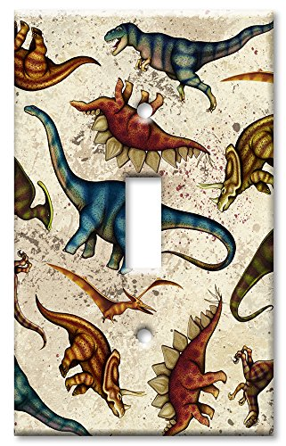 Art Plates - Dinosaur Toss Switch Plate - Single Toggle (Toss Single)