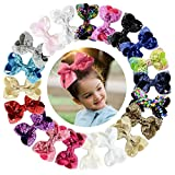 3.5'' Baby Girl Toddler Hair Bows With Alligator Clip Barrettes Accessories For Anfant 20 Pcs