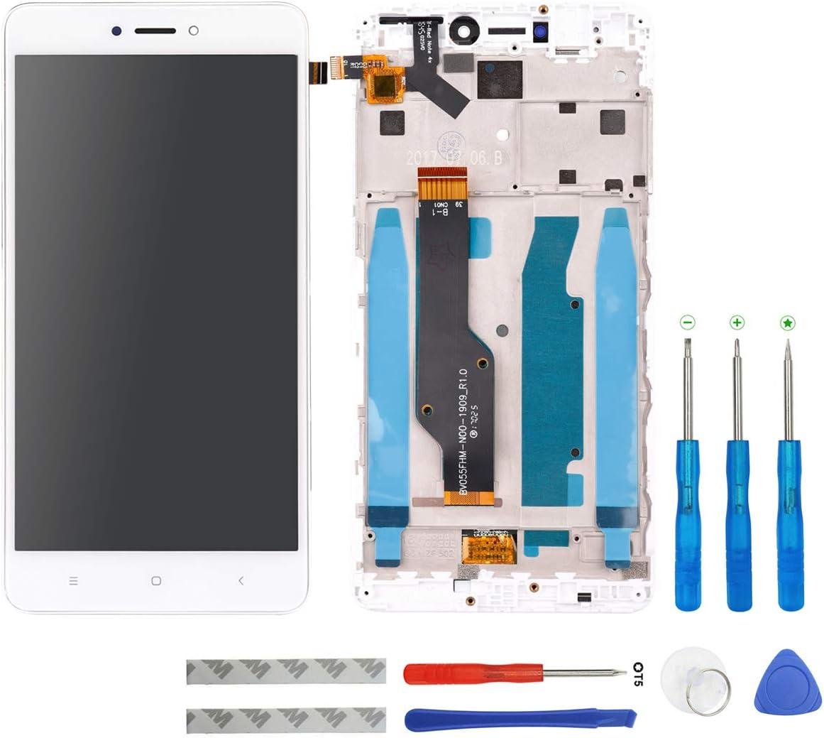 Swark - Pantalla LCD compatible con Xiaomi Redmi Note 4X / Note 4 Global (Qualcomm Snapdragon 625 CPU), color blanco