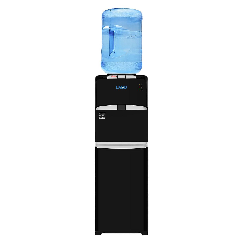 Lago Top Load Hot, Cold & Room Mini Black Water Cooler Dispenser CLTL120