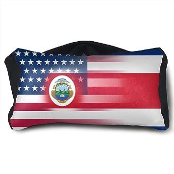 GLing-LIFE - Almohada de Viaje portátil con Bandera de Costa Rica y ...