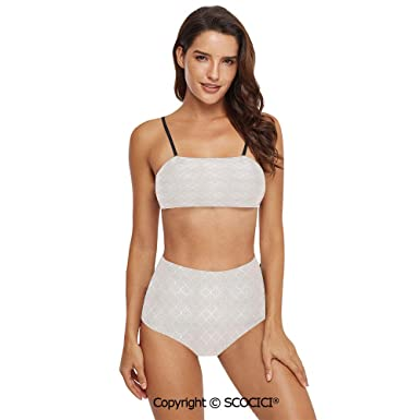 129dbb1291d54 Amazon.com: SCOCICI Bikini Swimsuit Swimwear Vintage Flower ...