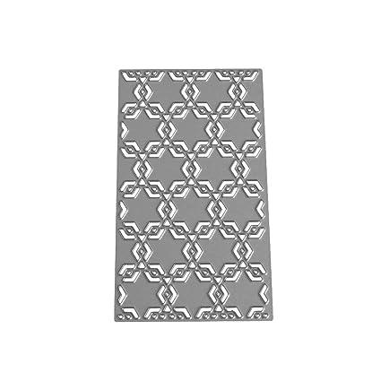 Healifty Plantilla de plantilla para plantilla de moldes de corte de metal plantilla de relieve de