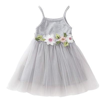 f75c08ca0f945 Amazon.com: Toddler Kids Girl Vest Tulle Dresses - Infant Baby Strap ...