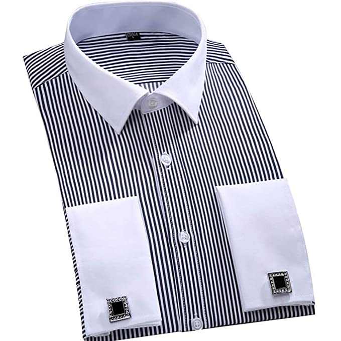 Amazon.com: TAOBIAN Camisa de esmoquin plisada para hombre ...