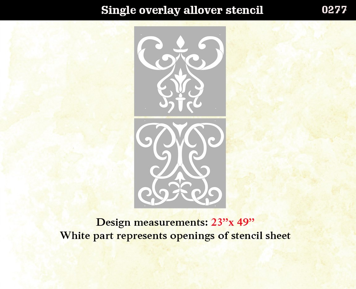 Amazon wall stencil damask scroll large allover pattern wall amazon wall stencil damask scroll large allover pattern wall room decor made by omg stencils home improvements color paintings 0277 handmade amipublicfo Image collections