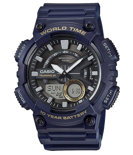 155726545da6 Casio Reloj Analogico-Digital para Hombre de Cuarzo con Correa en Resina AEQ-110W-2AVEF   Amazon.es  Relojes