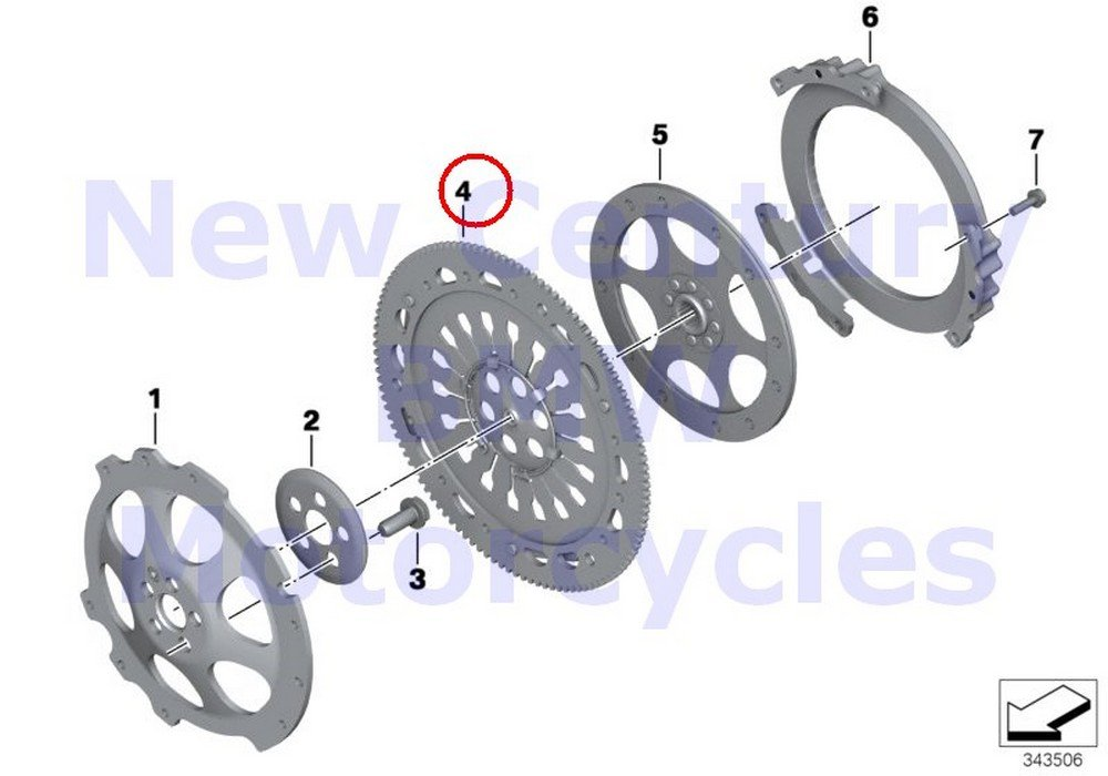 BMW Genuine Motorcycle Clutch - Single Parts Pressure Plate R nine T R1200GS R1200GS Adventure HP2 Enduro HP2 Megamoto R1200RT R900RT R1200R R1200ST HP2 Sport R1200S by BMW