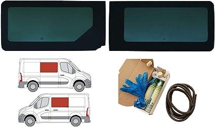 Mano izquierda y derecha, tintado oscuro fijo ventana doble para Renault Master (2010 ON) [L2, L3, L4]: Amazon.es: Coche y moto