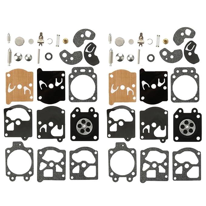 HIPA Lot de 2 Kit Réparation du Carburateur Joint Membrane Pour Walbro K10-WAT WA & WT Séries Stihl Husqvarna Poulan McCulloch Echo