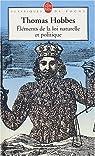 Elements de la loi naturelle et politique par Hobbes
