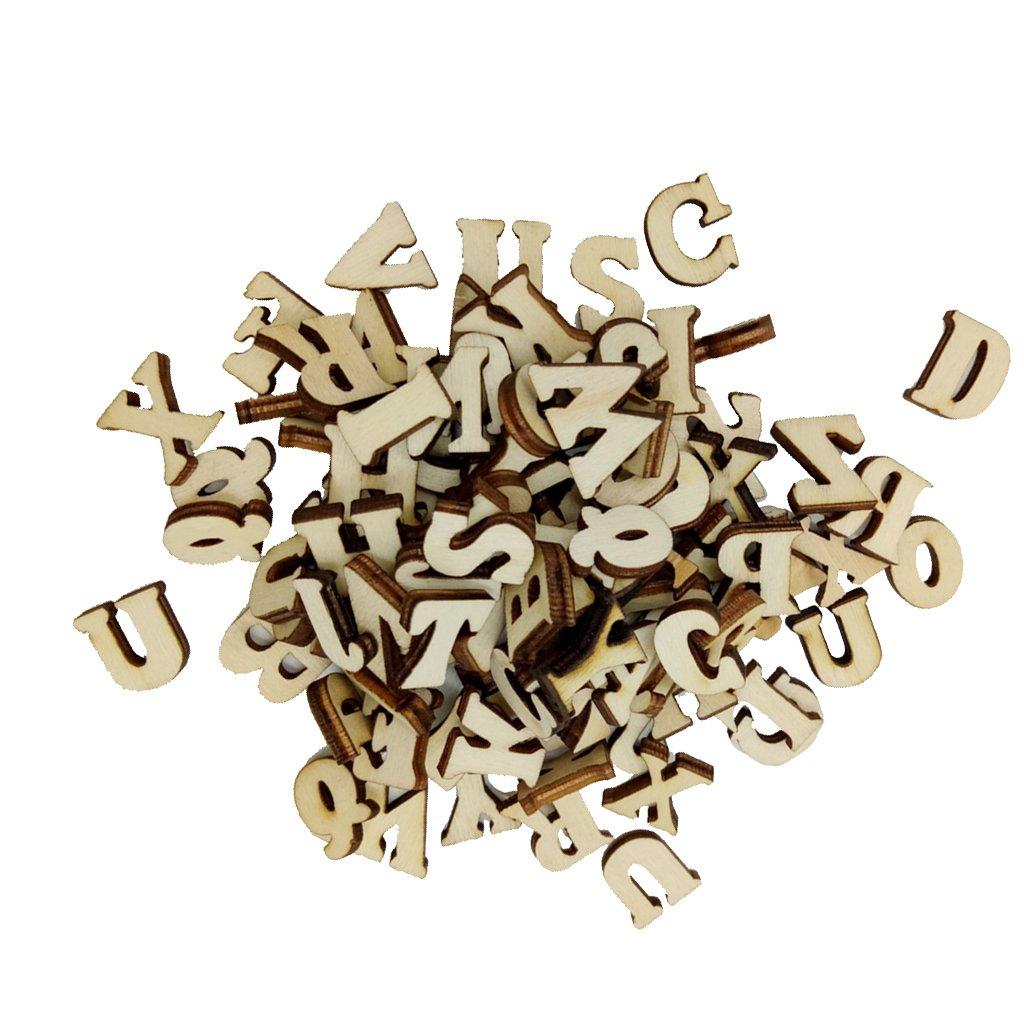 Homyl 100er Set Holz kleine Buchstaben Holz Kleinbuchstaben Hölzerne Alphabet zum Bsteln Dekorieren
