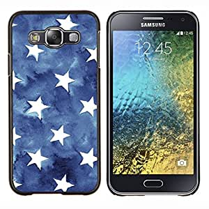 Eason Shop / Premium SLIM PC / Aliminium Casa Carcasa Funda Case Bandera Cover - Stripes USA azul de la bandera americana - For Samsung Galaxy E5 E500